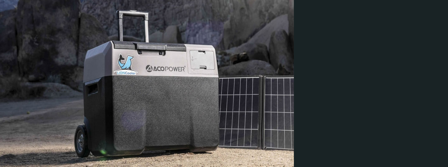 AcoPower Solar Coolers and Panels